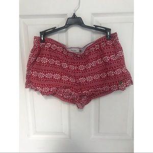 Christmas pajama shorts